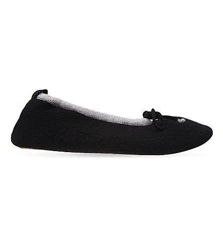 CASH CA Cashmere tipped ballet slippers (Black/marble+nv