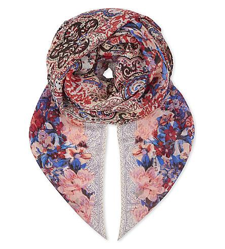 ETRO Bombay cashmere & silk scarf (Multi 0990