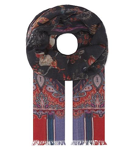 ETRO Raji cashmere scarf (Multi