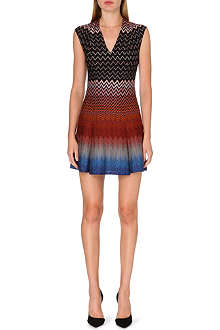 MISSONI Chevron print V-neck dress