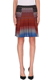 MISSONI Chevron knit flared skirt