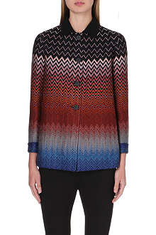 MISSONI Chevron knit swing coat