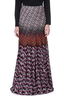 MISSONI Geometric-patterned knitted skirt
