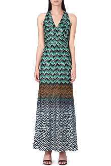MISSONI Sleeveless crochet-knit gown