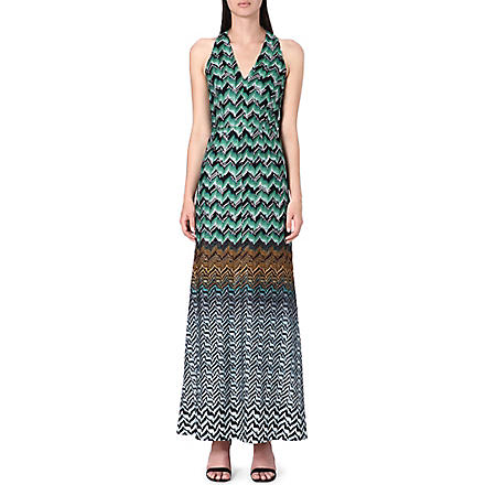 MISSONI Sleeveless crochet-knit gown (Green