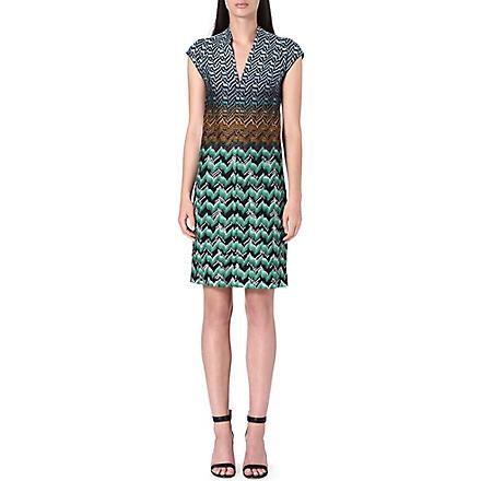 MISSONI Knitted v-neck dress (Green