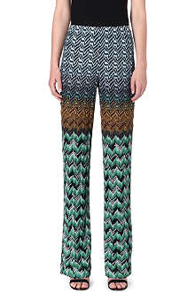 MISSONI Straight high-rise knitted trousers