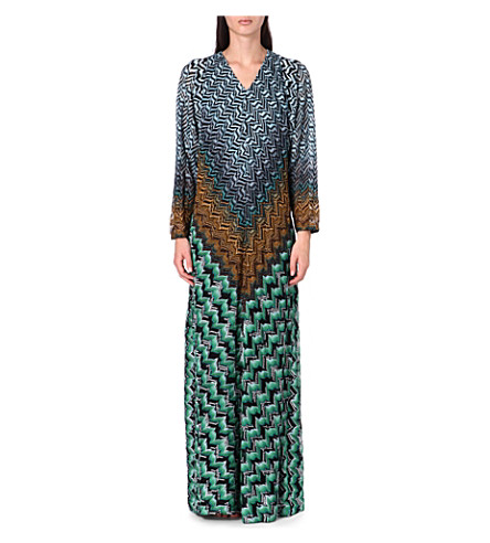 MISSONI Long-sleeved knitted dress (Green