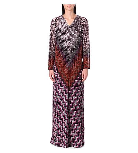 MISSONI Long-sleeved knitted dress (Pink