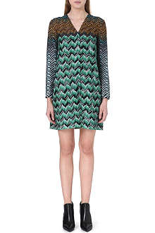 MISSONI Geometric-patterned knitted dress