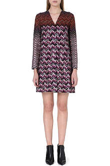 MISSONI V-neck crochet-knit dress