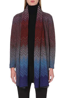 MISSONI Chevron knit drape cardigan