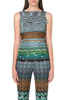 MISSONI Crochet-knit sleeveless top