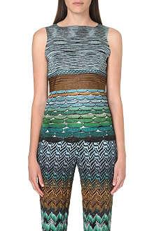 MISSONI Crochet-knit sleeveless top
