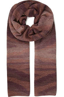 MISSONI Wool-blend knitted scarf