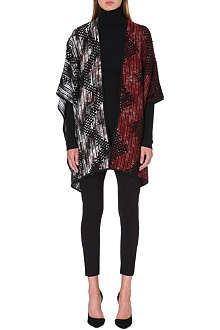 MISSONI Textured knitted wrap cape