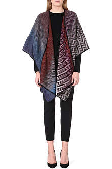 MISSONI Knitted wool-blend cape
