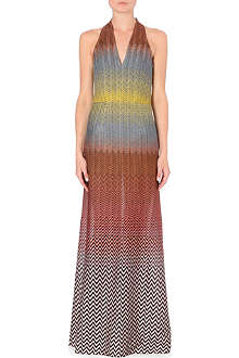 MISSONI Halterneck knitted gown