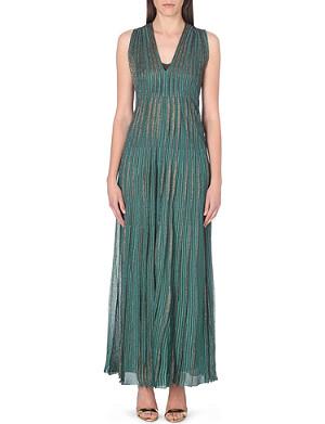 MISSONI Metallic-knit pleated dress