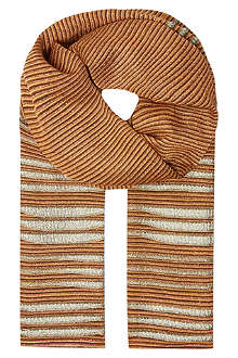 MISSONI Knitted asymmetric stripe wrap