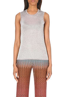 MISSONI Sleeveless metallic top