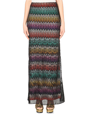 MISSONI Layered knitted maxi skirt