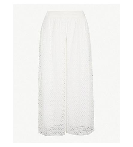 MISSONI Wide-leg lace culottes (White