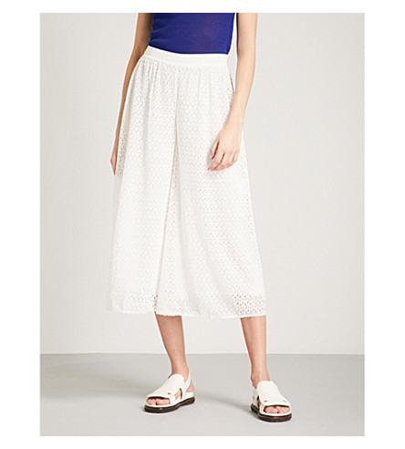 MISSONI Wide-leg lace culottes (White