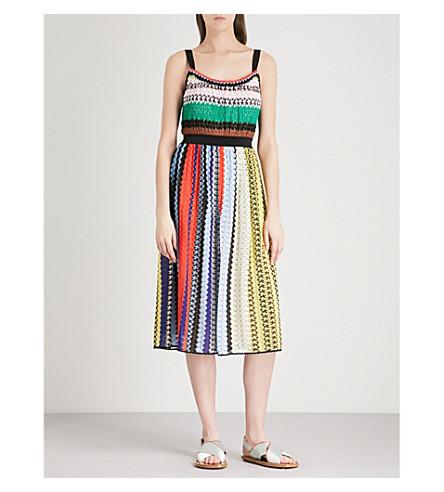 MISSONI Multi-striped sleeveless woven dress (Multicolour