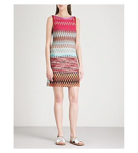 MISSONI Zigzag metallic woven mini dress (Multicolour