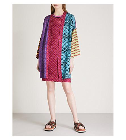 MISSONI Patchwork metallic-knit kimono (Multicolour
