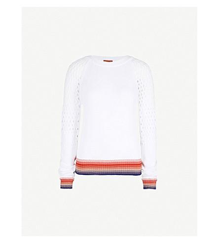MISSONI Crotchet-sleeve cotton jumper (Multicolour