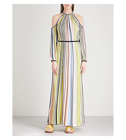 MISSONI Cold-shoulder striped woven dress (Multicolour