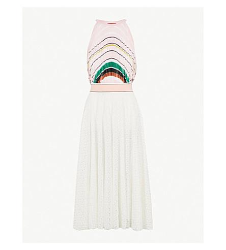 MISSONI Halterneck pleated knitted dress (Multicolour
