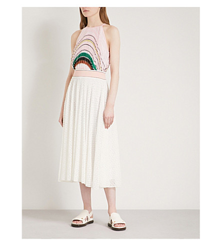 MISSONI Halterneck pleated knitted dress (Multicolour