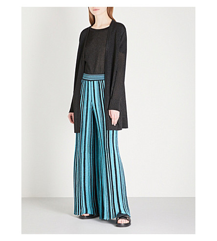 MISSONI Metallic knitted cardigan (Black