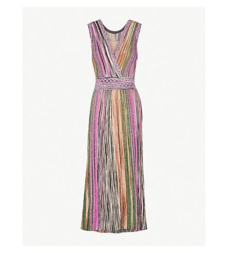 MISSONI Metallic-striped woven dress (Multicolour