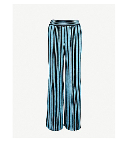 MISSONI Metallic-knit wide-leg woven trousers (Multicolour