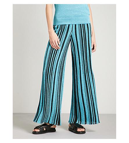 MISSONI Metallic-knit wide-leg woven trousers (Multicolour