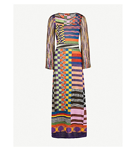MISSONI Chequered knitted dress (Multicolour