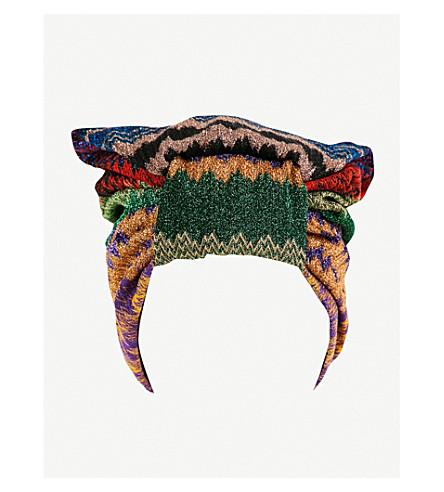MISSONI Missoni knitted turban (Multicolour