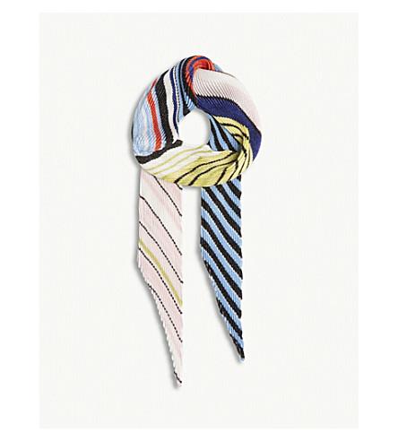 MISSONI Striped skinny scarf (Multicolour