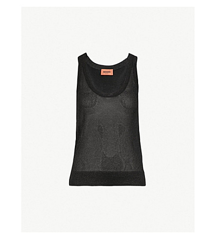 MISSONI Metallic-knit top (Black