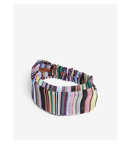 MISSONI Striped headband (Multi+colour