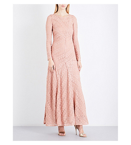 MISSONI Crotchet metallic-knit gown (Pink