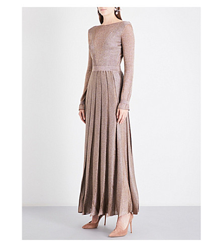 MISSONI Metallic-knit maxi dress (Gold