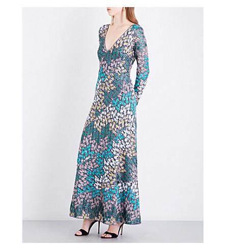 MISSONI Openwork metallic-knit maxi dress (Multicoloured