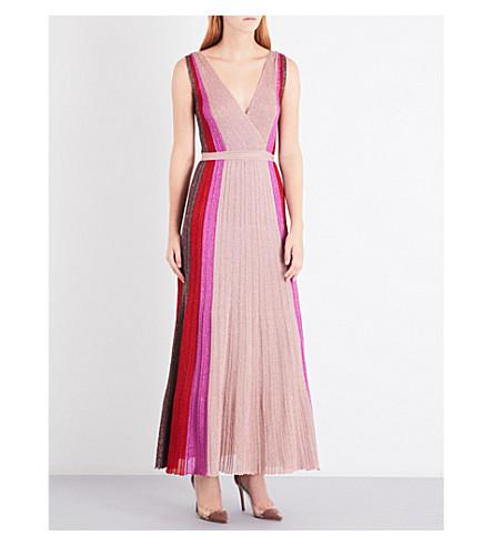 MISSONI Sleeveless metallic-knit maxi dress (Pink