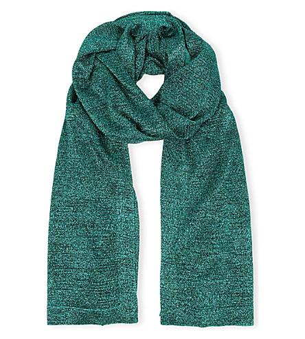 MISSONI Glitter knitted shawl (Dark+green