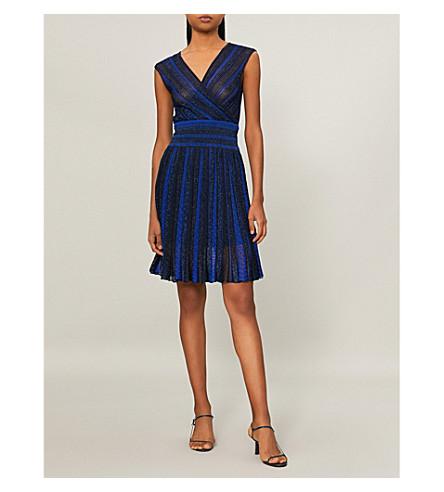 MISSONI Metallic lurex wrap dress (Blue